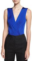 Diane von Furstenberg Lala Sleeveless Bodysuit, Blue