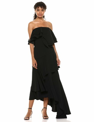 C/Meo Women's with You Strapless Ruffle Top Maxi Gown Dress