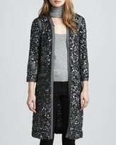 Rachel Zoe Paulie Long Sequin Jacket, Charcoal