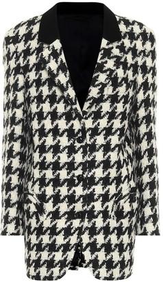 BLAZÉ MILANO Roxane Weekend houndstooth wool-blend blazer