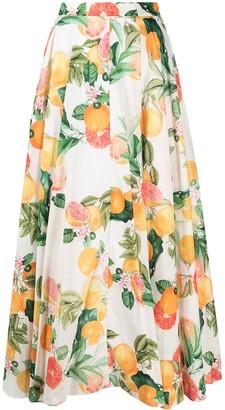 Cara Cara Fruit Print Skirt