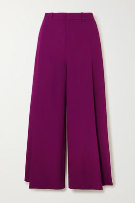 Roland Mouret Liberty Stretch-crepe Wide-leg Pants - Purple