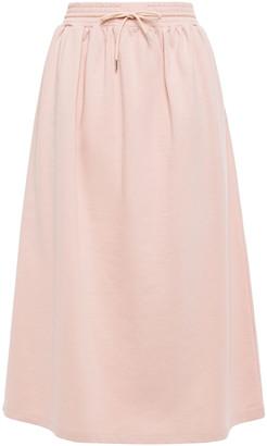 Ninety Percent Gathered French Cotton-terry Midi Skirt