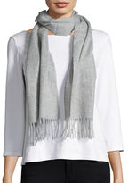 Lord & Taylor Fringed Cashmere Scarf