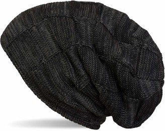 styleBREAKER Warm fine Knit Chequered Beanie hat with Braided Pattern and Very Soft Fleece Inner Lining Unisex 04024090