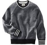 Classic Boys Drifter Crewneck Sweater-Nautical Navy