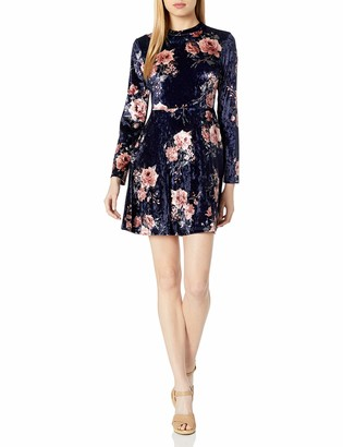 Taylor & Sage Women's Floral Print Panne Dress