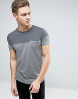 Esprit T-Shirt with Color Block and Pocket