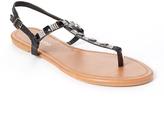 Black & Silver Crystal Sandal