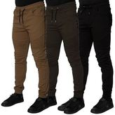 Loyalty And Faith Mens Casual Chinos Elasticated Cuffed Trousers Slim Fit Pants
