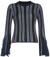 Jonathan Simkhai Fluted Sleeve Sweater