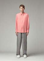 Overcoat Men's Wool Dropped Shoulder Shirt in Coral Size 0 100% Wool