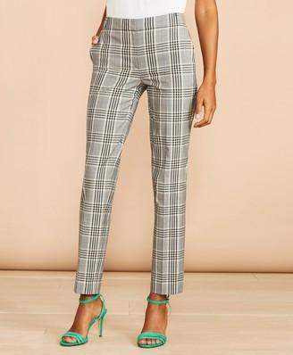 Brooks Brothers Tartan Stretch-Cotton-Blend Cropped Pants