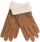 Auclair Suede Gloves - Faux-Shearling Cuffs (For Women)