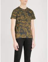 Alexander Mcqueen Camo-print Cotton-jersey T-shirt