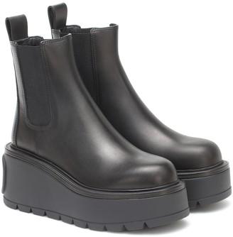Valentino Uniqueform leather platform ankle boots