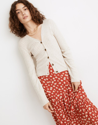 Madewell Pointelle Ribbed Cardigan Sweater
