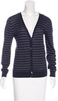 A.P.C. Striped V-Neck Cardigan
