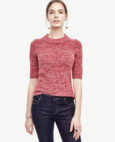 Ann Taylor Marled Short Sleeve Sweater
