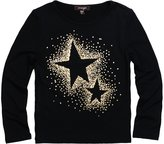Imoga Girls Ariana Star Long Sleeve Tee - Black