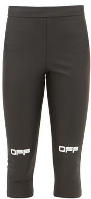 Off-White Printed-logo Technical Leggings - Black