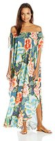 Mara Hoffman Women's Arcadia Crinkle Crepe Off the Shoulder Dashiki Cover up