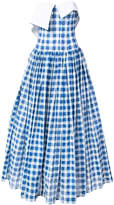 Natasha Zinko gingham strapless maxi dress