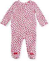 Kate Spade Ruffle-Trim Rose Footie Pajamas, Multicolor, Size 3-9 Months