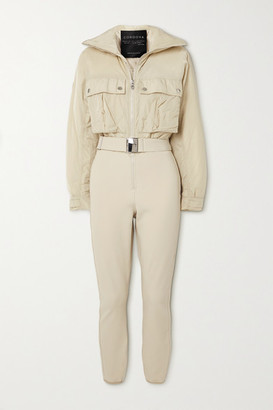 Cordova Telluride Convertible Paneled Ski Suit - Cream