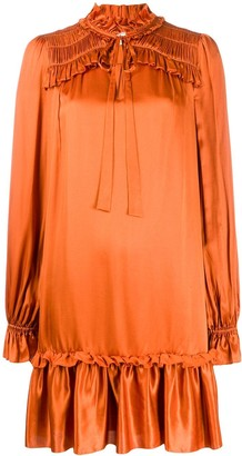 Temperley London ruffle neck dress