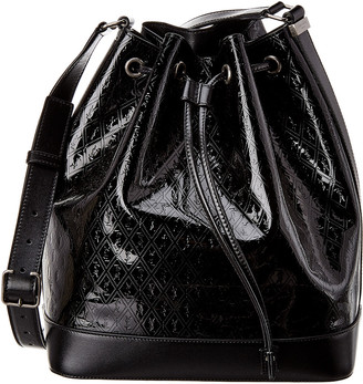 Saint Laurent Monogram Embossed Patent Bucket Bag