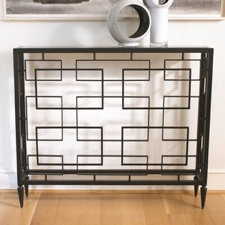 """Global Views 43"""" Console Table Color: Black"""