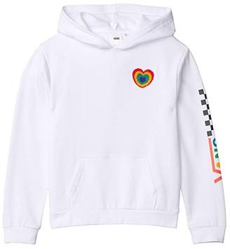 Vans Kids Plush Heart Hoodie (Big Kids) (White) Girl's Clothing