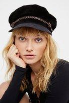 Brixton Kayla Leather Lieutenant Hat by at Free People
