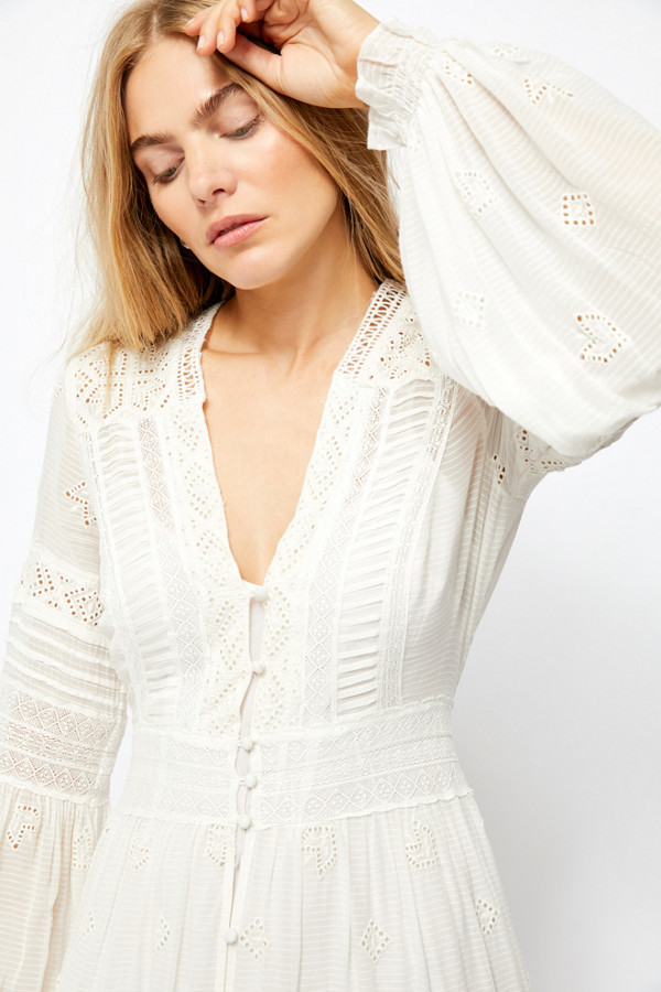 Thumbnail for your product : Free People Lisa Lace Maxi Dress