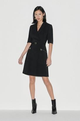 Karen Millen Black Label Italian Stretch A Line Dress