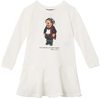 Polo Ralph Lauren Kids Atlantic Terry Bear Dress (Toddler) (Cream) Girl's Clothing
