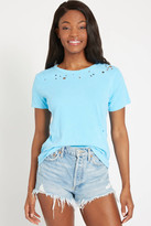 Chaser Neon Burnout Tee Blue XS