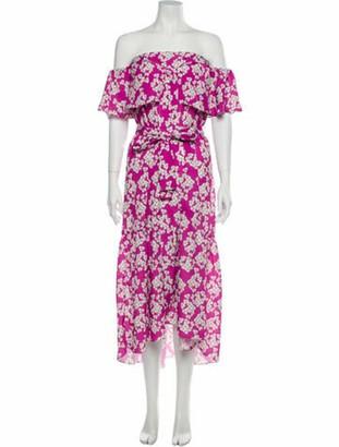 Borgo de Nor Floral Print Midi Length Dress Pink