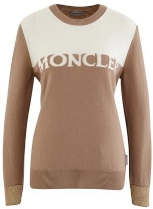 Moncler Logo round neck jumper in cashmere
