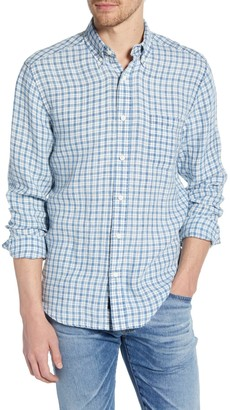 Faherty Brand Plaid Linen Ventura Regular Fit Shirt
