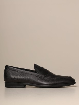 Tod's Tods Loafers Tods Moccasin In Grained Leather With Rubber Sole