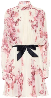 Giambattista Valli Floral silk georgette minidress