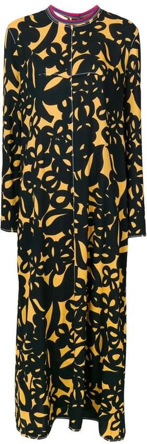 Marni dana print long dress
