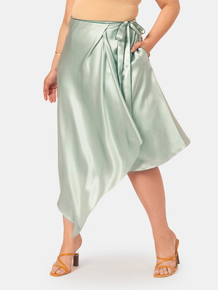 Shayne Hayden Silk Wrap Skirt