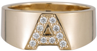 Ariel Gordon Pave Letter Ring