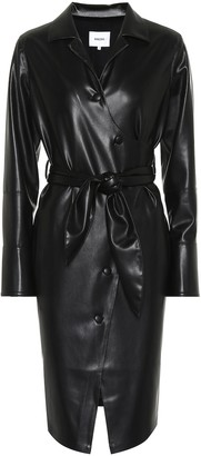Nanushka Ailsa faux leather wrap dress