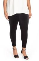 Eileen Fisher Plus Size Women's Stretch Velvet Ankle Leggings