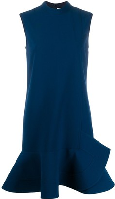 Victoria Victoria Beckham Sleeveless Peplum Hem Dress