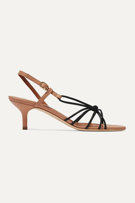 Malone Souliers Antwerp 45 Two-tone Knotted Leather Sandals - Black